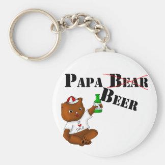 Papa Beer Key Chain