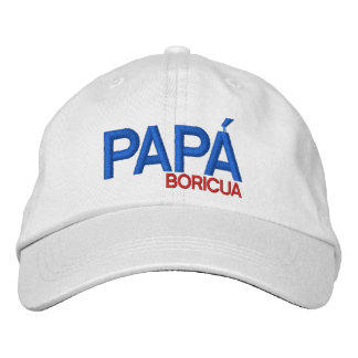 Papa Boricua: Puerto Rico Embroidered Hat