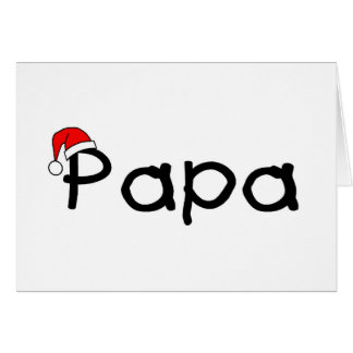 Papa Christmas Greeting Card