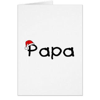 Papa Christmas Santa Hat Card