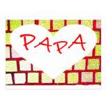 Papa, Dad, Vater, Vati, Daddy Postkarte