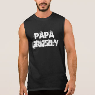 Papa Grizzly Bear Paw Sleeveless Shirt