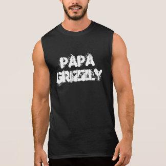 Papa Grizzly Bear Paw Sleeveless Tees