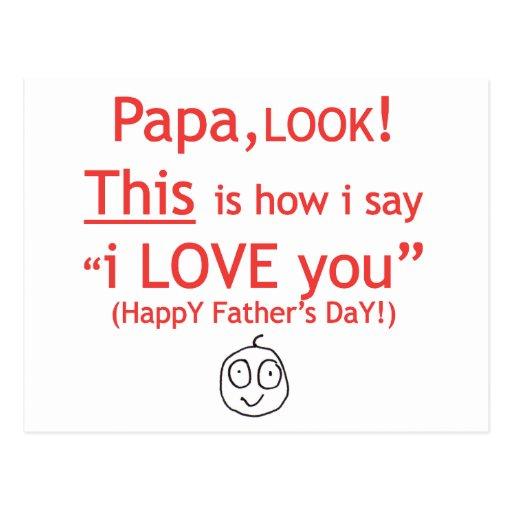 PaPa I love you! Postcard