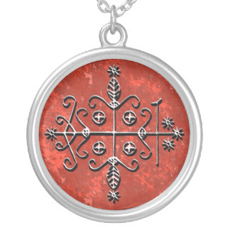 Papa Legba Veve Silver Plated Necklace