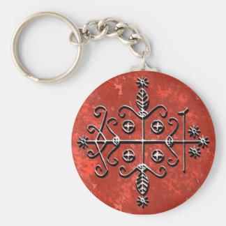 Papa Legba's Veve Basic Round Button Key Ring