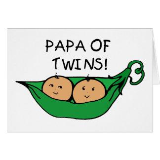 Papa of Twins Pod Card
