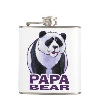 Papa Panda Bear Hip Flasks