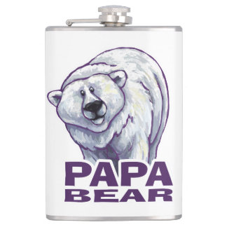 Papa Polar Bear Flask