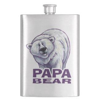 Papa Polar Bear Hip Flask