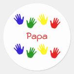 Papa Round Stickers