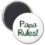 Papa Rules Refrigerator Magnet
