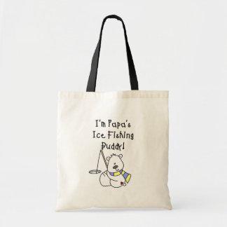 Papa s Ice Fishing Buddy Tshirts and Gifts Tote Bag