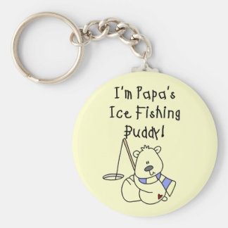Papa s Ice Fishing Buddy Tshirts and Gifts Key Chains