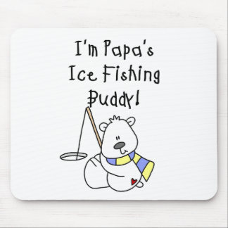 Papa s Ice Fishing Buddy Tshirts and Gifts Mouse Pads