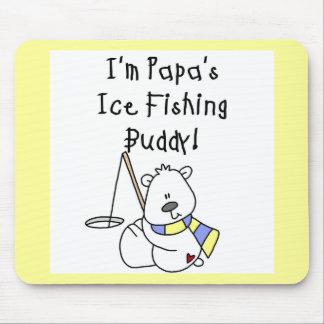 Papa s Ice Fishing Buddy Tshirts and Gifts Mousepad