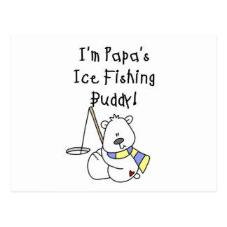 Papa s Ice Fishing Buddy Tshirts and Gifts Post Card