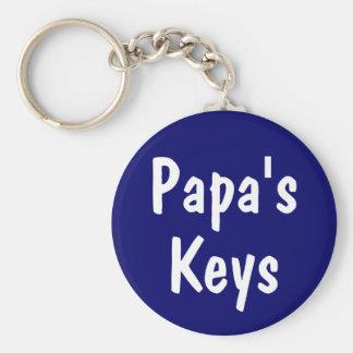 Papa s Keys Keychain