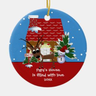 Papa s Love House Christmas Ornament