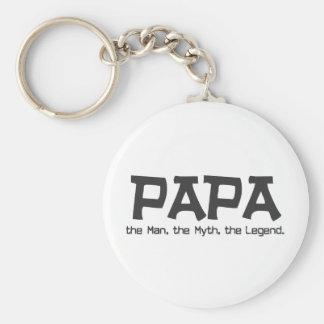 Papa the Man the Myth the Legend Key Ring