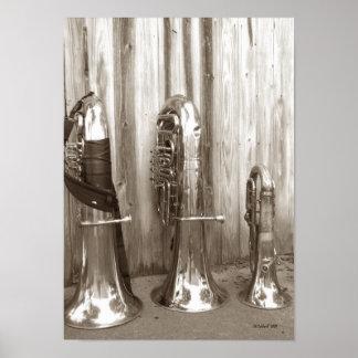 Papa Tuba, Mama Tuba and Baby Tuba Poster