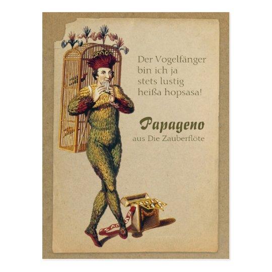 Papageno Zauberflöte Magic flute CC0839 Mozart Postcard