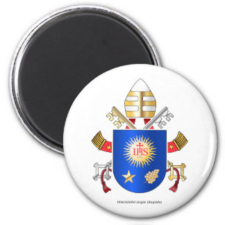 Papal Coat of Arms 6 Cm Round Magnet