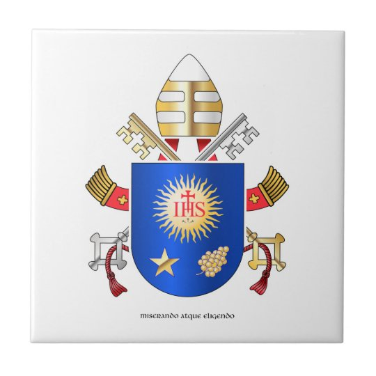 Papal Coat of Arms Small Square Tile