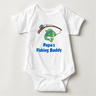 Papa's Fishing Buddy Baby Bodysuit