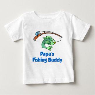 Papa's Fishing Buddy Baby T-Shirt
