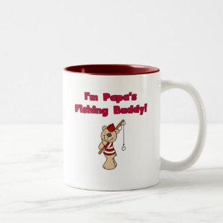 Papa's Fishing Buddy Tshirts and Gifts Two-Tone Mug