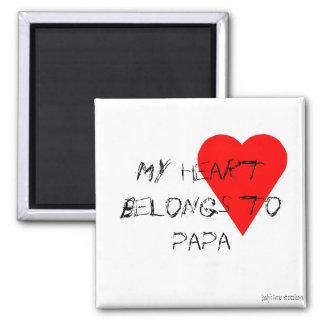 Papa's Heart Magnet