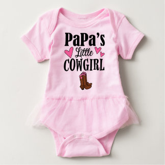 PAPA'S LITTLE COWGIRL  Tutu Bodysuit