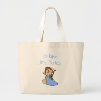 Papa's Little Monkey - Blue Tshirts and Gifts Jumbo Tote Bag