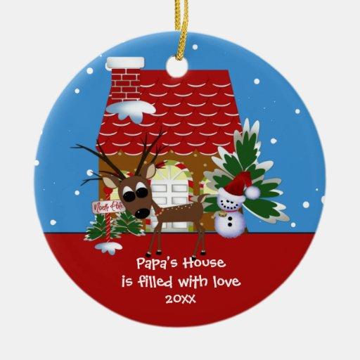 Papa's Love House Christmas Ornament