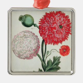 Papaver somniferum and Papaver rheas engraved by G Christmas Ornament