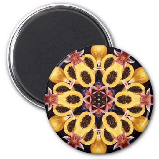 Papaya Dreams 6 Cm Round Magnet