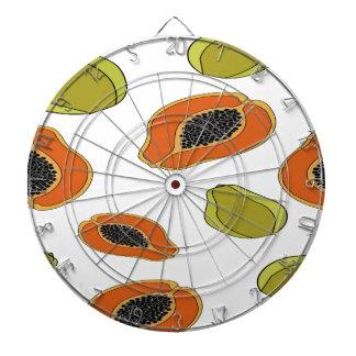 Papaya fruit pattern dartboard