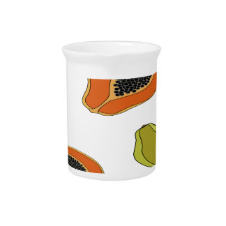 Papaya fruit pattern pitcher