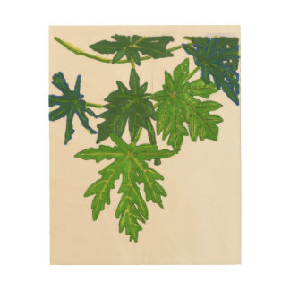 Papaya leaves wall art