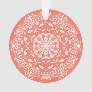 Papaya Mandala Ornament