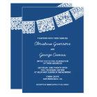 Papel Picado Blue | Wedding Invitation