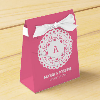 Papel Picado Favor Box - Pink