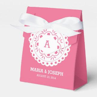 Papel Picado Favor Box - Pink