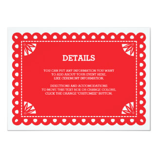 Papel Picado Insert Card - Orange