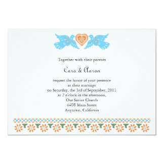 Papel Picado Love Birds Invitation
