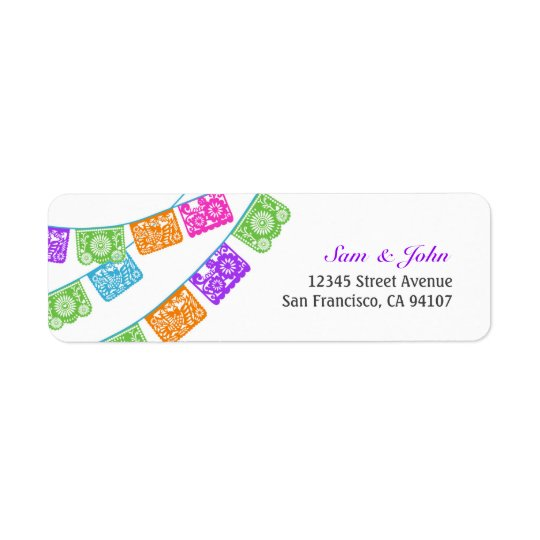 Papel Picado Return Address Labels