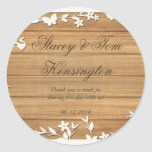 Papel Picado Wedding Invitation - Lovely Doves Round Sticker