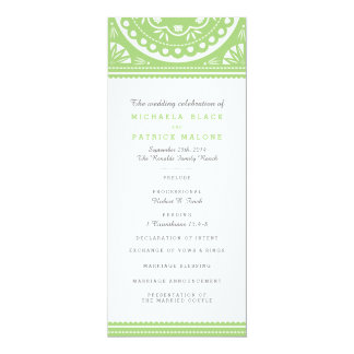 Papel Picado Wedding Program - Green