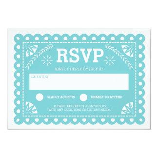 Papel Picado Wedding RSVP 9 Cm X 13 Cm Invitation Card